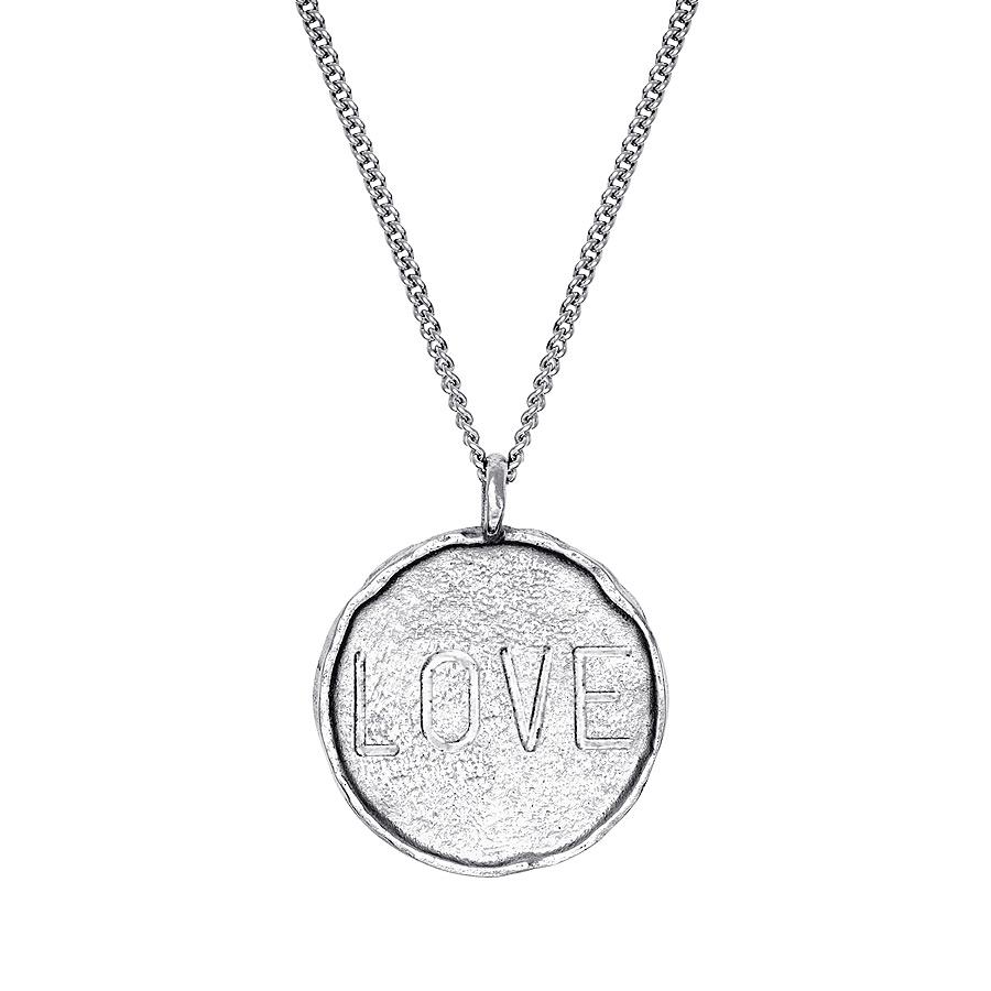 Talisman Münze LOVE + Kette | silber