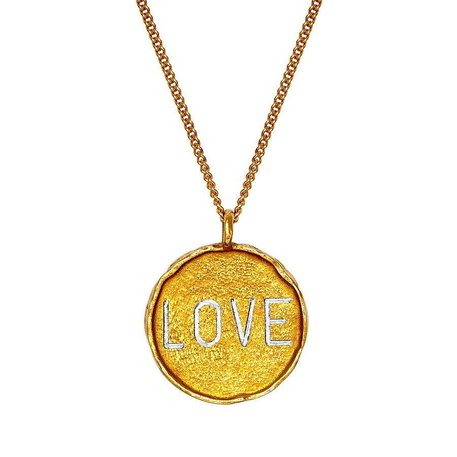 Talisman Münze LOVE + Kette | golden